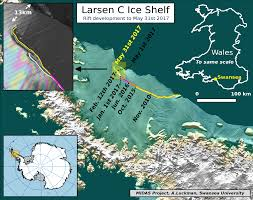 Map Of World Before Ice Age by The Larsen C Ice Shelf Growing Rift Antarcticglaciers Org