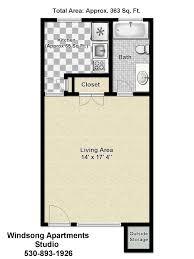 floor plan of studio apartment windsong apartments