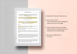 hold harmless agreement template in word google docs apple pages