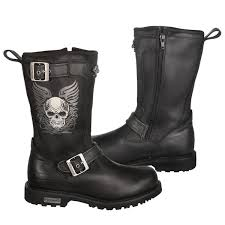 womens xelement boots xelement s tribal skull motorcycle boots