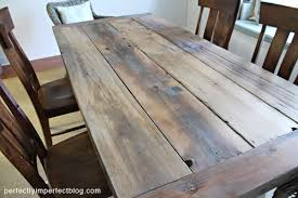 how to make a rustic table farmhouse table perfectly imperfect blog