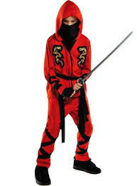 Halloween Costumes Party Boys Red Ninja Costume Boys Halloween Henry