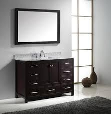 Contemporary Bathroom Vanity Cabinets Virtu Caroline Avenue 48 Inch Contemporary Bathroom Vanity