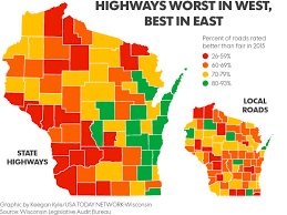 Weather Map Wisconsin maps wisconsin u0027s worst best highways