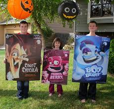 project denneler spooky cereal box costumes