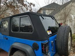 jeep wrangler back randomly learned besttop trektop pro on 2 door jeep jk