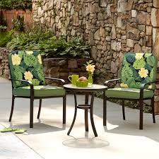 Bistro Patio Chairs by Essential Garden Bisbee 3pc Bistro Set Green Palm Limited