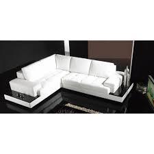 canape avec rangement canapé d angle design en cuir loretto avec casiers de rangement
