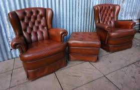 Leather Wingback Chair With Ottoman Design Ideas Tufted Leather Wing Chair Chair Design Ideas Tufted Leather Chair