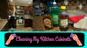 deep cleaning my kitchen cabinets watch me clean wednesday youtube