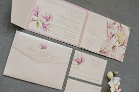 wedding invitation pocket envelopes blush pink wedding invitation floral wedding invitation pocket