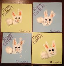 easter bunny handprint craft for baby or kids my creations