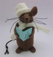 Christmas Mice Decorations Primitive Mice Creations Primitive Folk Art Handmade Country