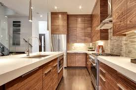 Calgary Kitchen Cabinets Calgary Walnut Kitchen Cabinets Contemporary With Hidden Light
