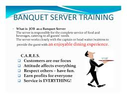 page 12 banquet server training banquet catering menus