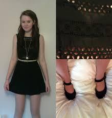 color necklace black dress images Hannah kim primark black dress primark pocket watch necklace jpg