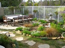 Pretty Garden Ideas Decor Small Yard Design With White Fence And Pretty Garden For