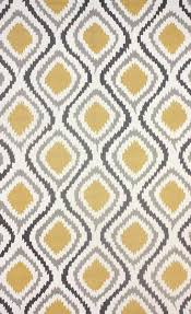 knob yellow and grey wool area rug