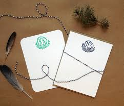 Letterpress Stationery Personalized Letterpress Stationery Set Of 25 Note Cards With
