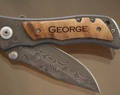 Unique Engraved Gifts Engraved Rosewood Decogrip Knife Groom Gifts Hunting And
