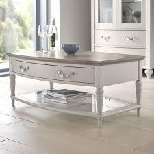 Grey And Oak Furniture Tuscany Grey Washed Oak U0026 Soft Grey Coffee Table