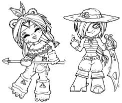 native american difficult coloring pages chibi capt native