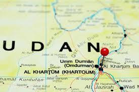 africa map khartoum khartoum pinned on a map of africa stock photo dk photos 93771220