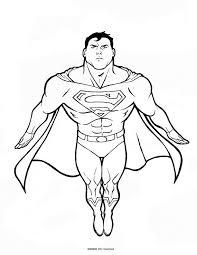 superman coloring pages print dc comics superhero superman