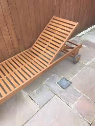 B Q Rattan Garden Furniture Aland Wooden Sunlounger From B U0026q Still For Sale In Redcar North