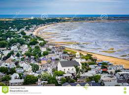 view of provincetown from the pilgrim u0027s monument in provincetow