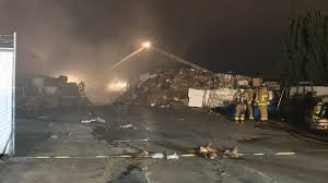 fire breaks out at kearny mesa recycling facility the san diego