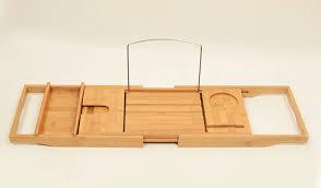 adjustable bathtub caddy bathroom mesmerize wood bath caddy with book frightening
