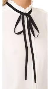 sleeveless tie neck blouse frame le ruffle neck sleeveless blouse shopbop