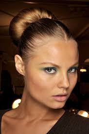 middle part bun middle part bun the perfect hair pinterest makeup