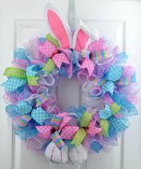 door wreaths easter bunny summer welcome door wreath pink blue green