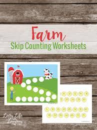 farm skip counting math worksheets