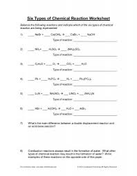 chemical reaction worksheets free worksheets library download