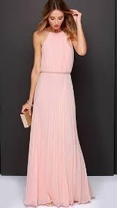 chiffon maxi dress baby pink cold shoulder halter chiffon maxi dress jassie line