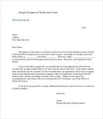 disapproval letters 5 free word pdf documents download free