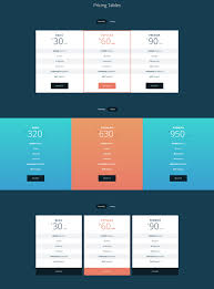 responsive design css 30 best html css pricing table templates tutorials