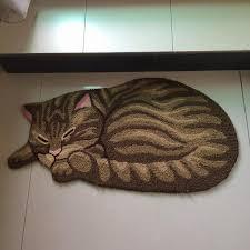 decorative floor mats home 85 45cm cat shape home decorative mat anti slip bedside rugs