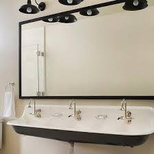 Kohler Faucets Bathroom Sink by Black And White Cottage Kids Bathroom With Kohler Brockway Sink