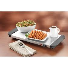 living by nostalgia mini 3 station buffet server with warming tray
