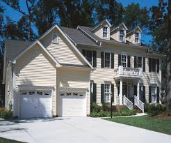 exterior design optional color of vinyl siding by certainteed awesome exterior design with cream certainteed siding plus double white garage doors plus balcony