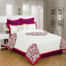 Red And White Modern Bedroom Red And White Comforter Ideas Homesfeed
