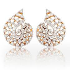 heavy diamond earrings symphony design diamond earrings govind dande and sons