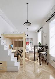 2 small apartment with modern minimalist interior design roohome
