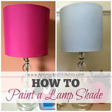 Light Pink Spray Paint - how to paint a lamp shade http apronsandstilletos com how to