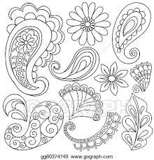 vector stock henna paisley tattoo doodles vector stock clip art