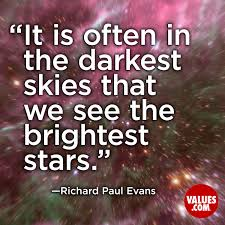 Iyanla Vanzant Quotes On Love by It Is Often In The Darkest Skies That We See The Brightest Stars